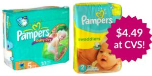 CVS: Pampers Diapers Jumbo Packs Only $4.49!