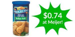 Meijer: Progresso Bread Crumbs Only $0.74!