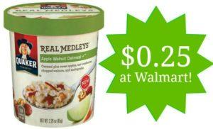 Walmart: Quaker Real Medleys Oatmeal Only $0.25!