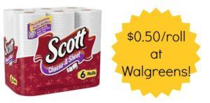 Walgreens: Scott Paper Towels Only $0.50 a Roll!