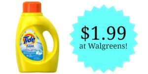 Walgreens: Tide Clean & Fresh Detergent Only $1.99!