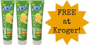 FREE Zest FruitBoost Shower Gel at Kroger!