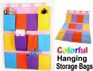 Colorful Hanging Pocket Home Organizer Only $3.31 + FREE Shipping!