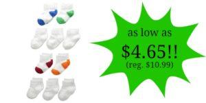 Fruit of the Loom Boy's 10 Pack Ankle Socks as low as $4.65!