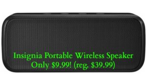 Insignia Portable Wireless Speaker Only $9.99! (reg. $39.99)