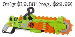 Nerf Zombie Strike Brainsaw Blaster – $19.88! (reg. $29.99)