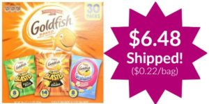 Pepperidge Farm Goldfish Variety Pack Bold Mix 30 count as low as $6.48 Shipped! ($0.22/bag)