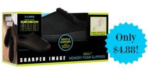 Sharper Image Men's Memory Foam Slipper Only $4.88!