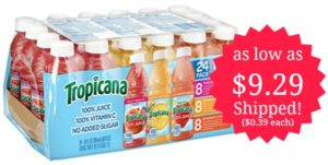 Tropicana Variety Pack, 24-count as low as $9.29 Shipped! ($0.39 each)