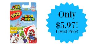 Uno Super Mario Card Game Only $5.97!