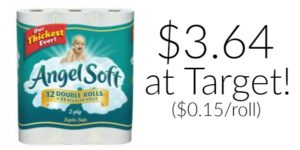 Angel Soft Toilet Paper Only 15 Cents Per Roll at Target!