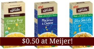 Meijer: Back to Nature Macaroni and Cheese Only $0.50!