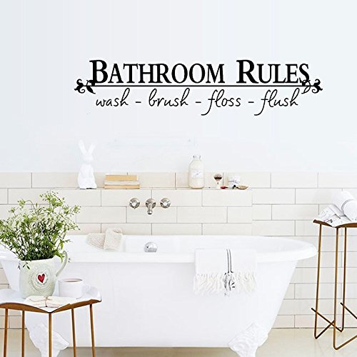 Bathroom Rules Vinyl Wall Decal Only 1 91 Free Shipping