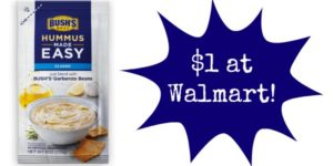 Walmart: Bush's Hummus Made Easy Only $1!
