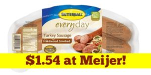 Meijer: Butterball Turkey Sausage Only $1.54!