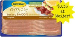 Meijer: Butterball Turkey Bacon Only $0.35!