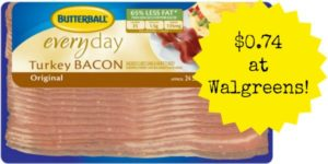 Walgreens: Butterball Turkey Bacon Only $0.74!