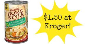 Kroger: Campbell's Homestyle Soup Only $1.50!