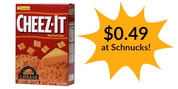 Schnucks: Cheez-It Crackers Only $0.49!