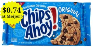 Meijer: Chips Ahoy! Cookies Only $0.74!