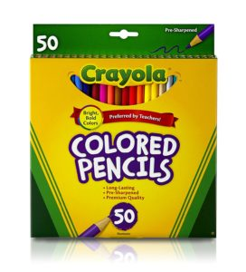 Crayola Colored Pencils 50 count Only $3.97! (reg. $12.99)