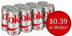 Meijer: Diet Coke Mini Cans 8-count Only $0.39!