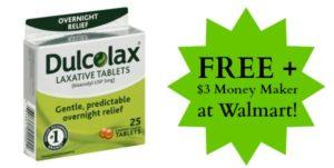 FREE Dulcolax Laxative Tablets at Walmart + $3 Money Maker!