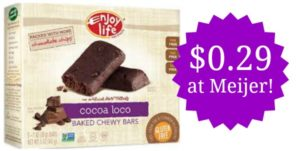 Meijer: Enjoy Life Chewy Bars Only $0.29!
