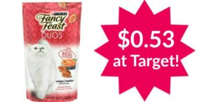 Target: Purina Fancy Feast Treat Duos Only $0.53!