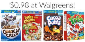 Walgreens: General Mills Cereals Only $0.98!