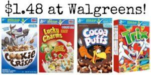 Walgreens: General Mills Cereals Only $1.48!