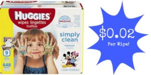 Huggies Simply Clean Baby Wipes Only $0.02 per Wipe Shipped!