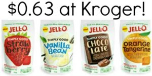 Kroger: Jell-O Simply Good Gelatin or Pudding Mix Only $0.63!