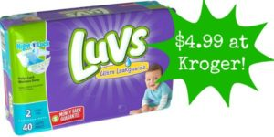 Kroger: Luvs Diapers Only $4.99!