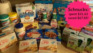 Schnucks Shopping: Spent $31.63, Saved $67.85!