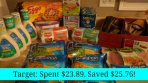 Target Shopping – Spent $23.89, Saved $25.76!