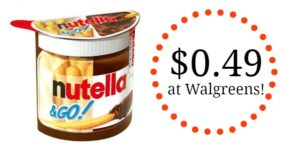 Walgreens: Nutella & Go Packs Only $0.49!