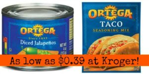 Kroger: Ortega Taco Products as low as $0.39!