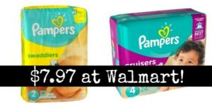 Walmart: Pampers Diapers Only $7.97!
