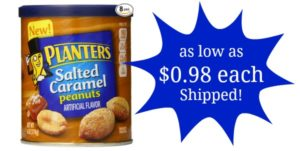 Planters Dry Roasted Peanuts, Salted Caramel 8-count as low as $7.82 Shipped! ($0.98 each)