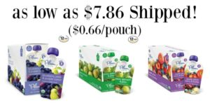 Plum Organics Stage 2 Pouches 12-packs as low as $7.86 Shipped! ($0.66/pouch)