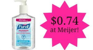 Meijer: Purell Hand Sanitizer Only $0.74!