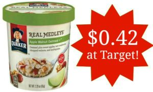 Target: Quaker Real Medleys Oatmeal Cup Only $0.42!