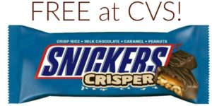 FREE Snickers Crispers Bar at CVS!