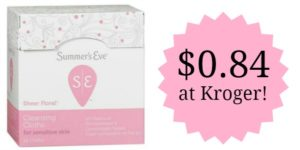 Kroger: Summer's Eve Cleansing Cloths Only $0.84!