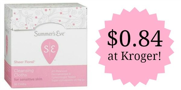 graphic regarding Summers Eve Printable Coupons called Kroger: Summers Eve Cleaning Cloths Simply just $0.84! - Turn into a
