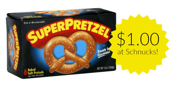 Schnucks: SuperPretzel Soft Pretzels Only $1.00!