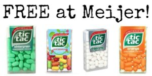 FREE Tic Tacs at Meijer!