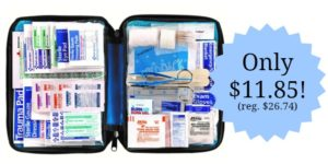 All-purpose First Aid Kit, Soft Case with Zipper, 299-Piece Kit – $11.85!! (reg. $26.74)