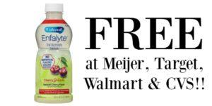 FREE Enfamil Enfalyte Electrolyte Solution at Meijer, Target, Walmart and CVS!